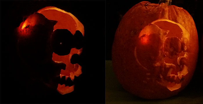 Skull Pumpkin - Carved Pumpkin