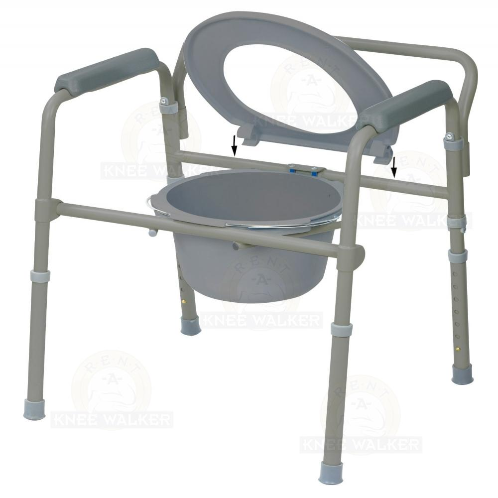 Commode, 3 in 1 Folding 350lbs 11148-4 : Rent A Knee Walker