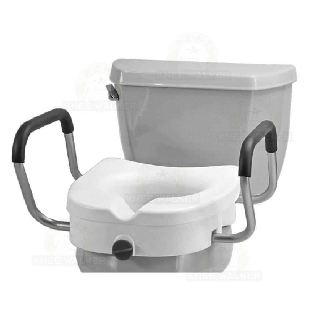 Amazing Raised Toilet Seat With Lock Arms 300Lbs Large Photo 1 Ibusinesslaw Wood Chair Design Ideas Ibusinesslaworg
