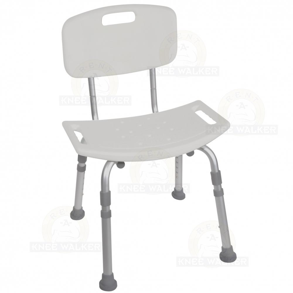 Shower Chair with Back, 400lbs 12202KD-4 : Rent A Knee Walker