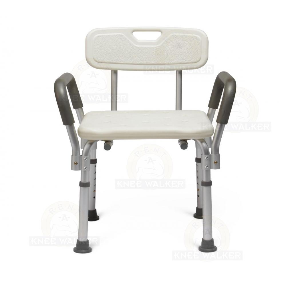 Shower Chair with Back and Arms, 350lbs MDS89745RA : Rent A Knee Walker