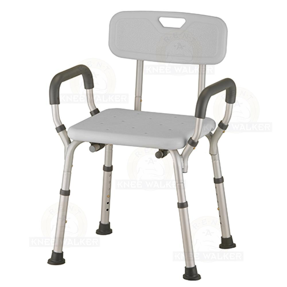Shower Chair with Back and Arms 300lbs 9036-R : Rent A Knee Walker