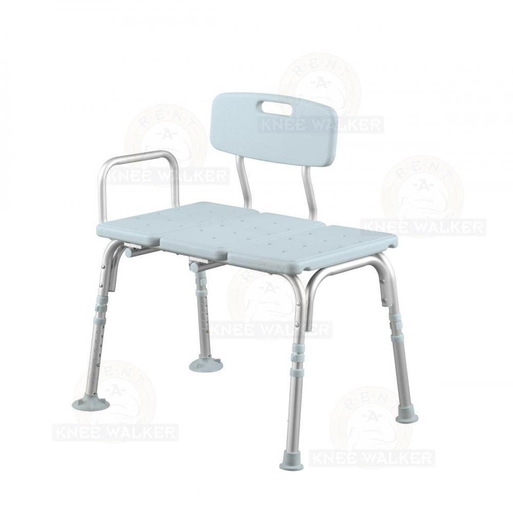 Tub Transfer Bench, Back 350lbs MDS86960KDMB : Rent A Knee Walker