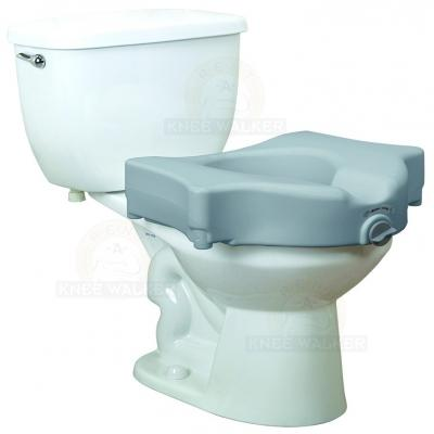 Raised Toilet Seat with Lock 600lbs large photo 1