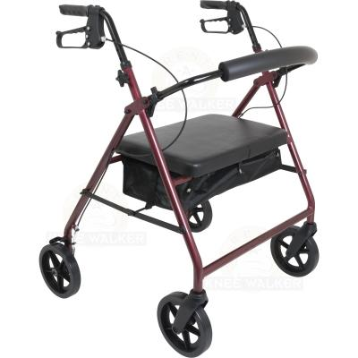 Rollator, Extra Wide Tall, 8in wheels, 400lbs large photo 1