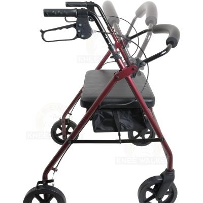 Rollator, Extra Wide Tall, 8in wheels, 400lbs large photo 2