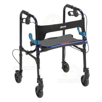 Walker with Seat, 5in wheels CleverLite 300lbs large photo 1