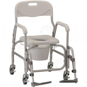 Thumbnail image of Commode, Wheeled Shower Chair, Padded with SA, 250lbs