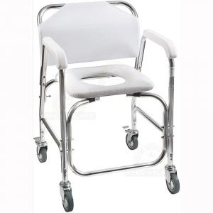 Thumbnail image of Commode, Wheeled Shower Chair 250lbs