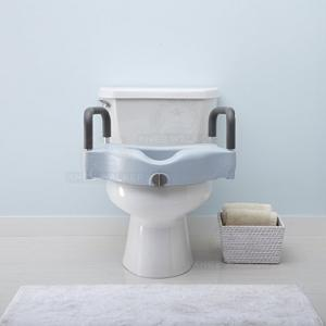 Thumbnail image of Raised Toilet Seat with Lock, Arms 350lbs