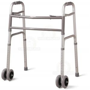 Thumbnail image of Walker-Two Button Folding, Front Wheels Bariatric 500lbs (P)
