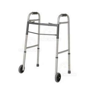 Thumbnail image of Walker-Two Button Folding Walker 5in Wheels (P)