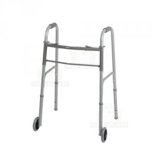 Thumbnail image of Walker-Two Button Folding Walker 5in Wheels
