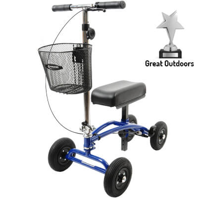 Orthomate Knee Scooter is great outdoors