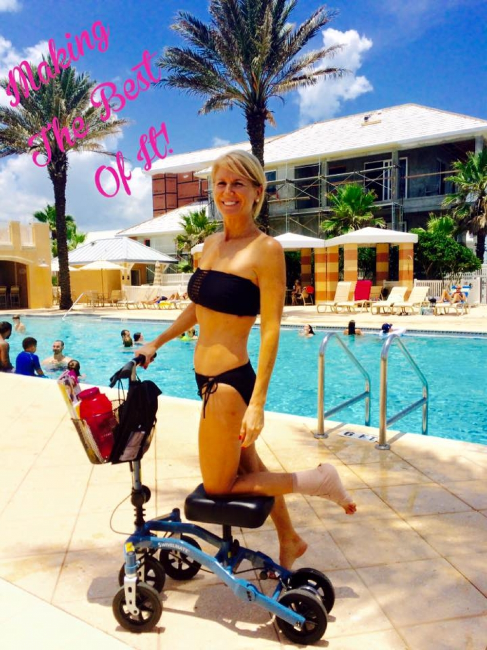 Lisa on the Swivelmate Knee Walker from Orlando Florida July 2015