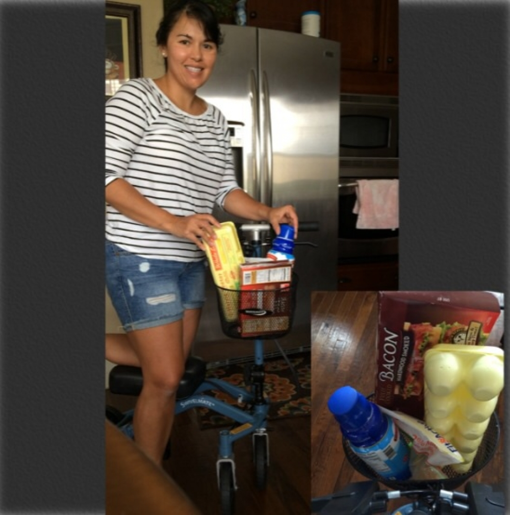 Anh on the Swivelmate Knee Walker from Rolesville North Carolina July 2014