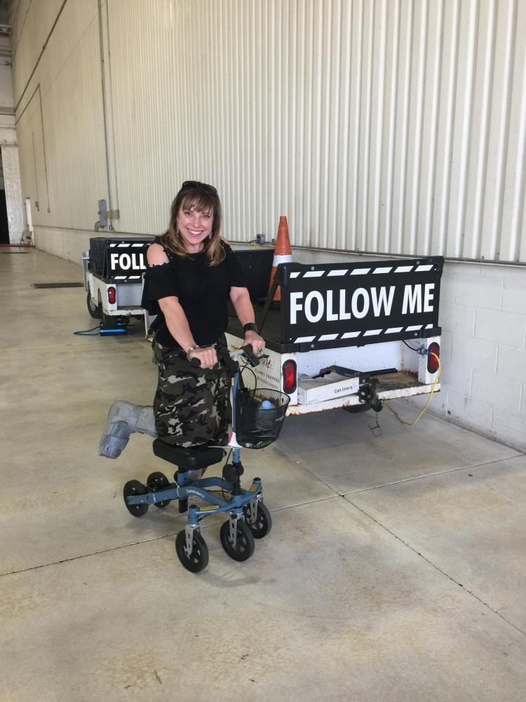 Jacki on the Swivelmate Knee Walker from Winston-Salem North Carolina May 2018