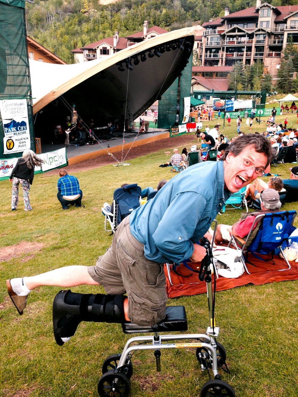 Robert on the Free Spirit Knee Walker from Park City Connecticut August 2014