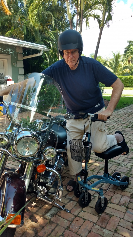 Douglas on the Swivelmate Knee Walker from West Palm Beach Florida July 2017