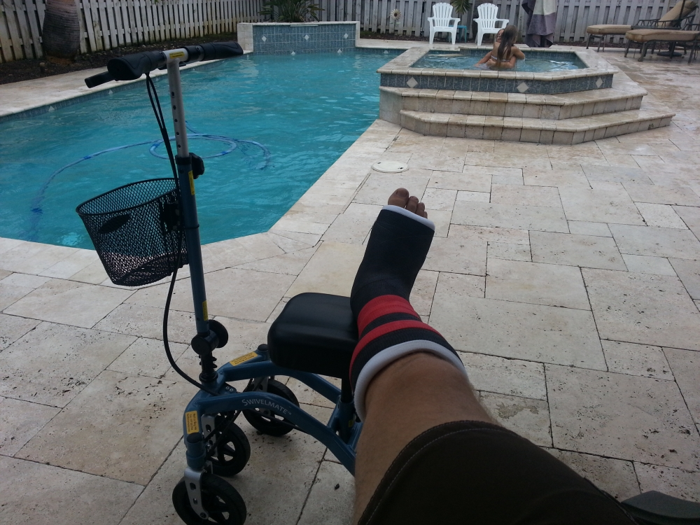 Marc on the Swivelmate Knee Walker from Davie Florida August 2014