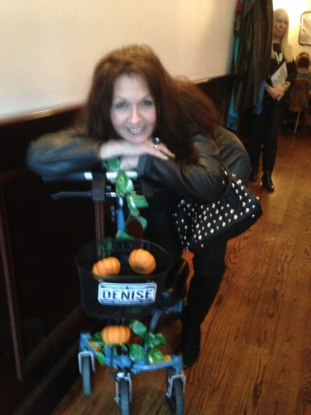 Denise on the Swivelmate Knee Walker from New York New York November 2014