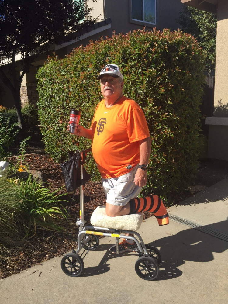 David on the Free Spirit Knee Walker from Folsom California September 2016