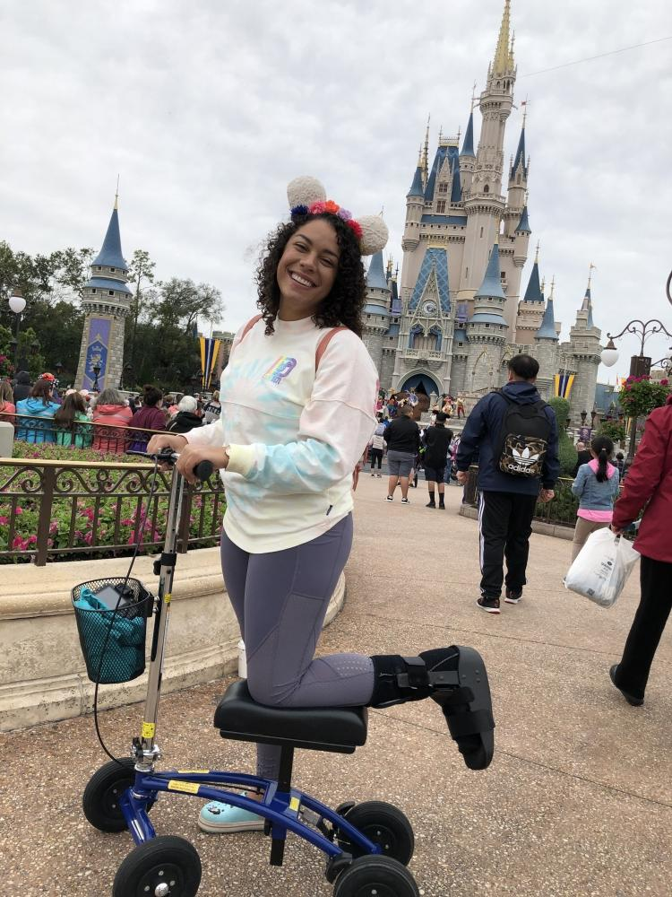 Makaila on the Orthomate All Terrain Knee Scooter from Colchester Connecticut February 2019