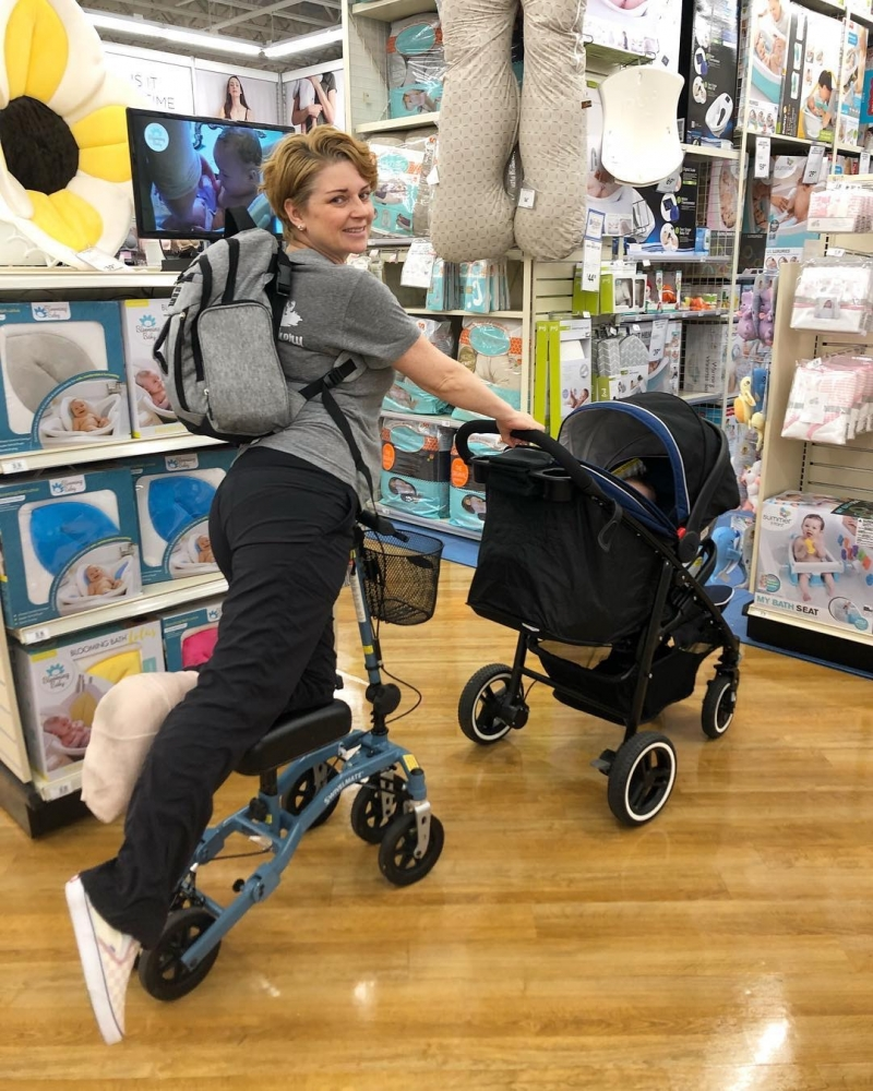 Lisa on the Swivelmate Knee Walker from Tucson Arizona April 2019