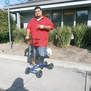 using a Orthomate All Terrain Knee Scooter from Salinas California October 2019
