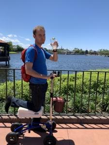 using a Orthomate All Terrain Knee Scooter from Pensacola Florida April 2019