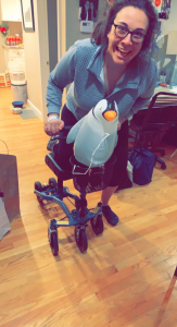 using a Swivelmate Knee Walker from Charlestown Massachusetts February 2021