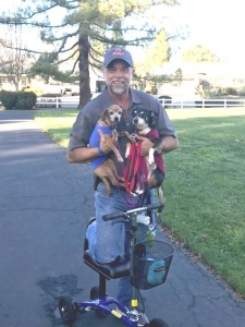 using a Orthomate All Terrain Knee Scooter from Danville California January 2020