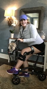 using a Gemini Seated Knee Scooter from  Nashville Tennessee July 2019