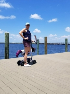 Thumbnail of  using a Orthomate All Terrain Knee Scooter from Pinellas Park, FL