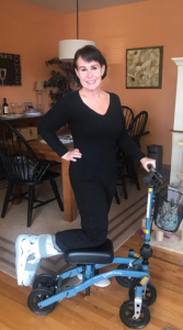 using a Swivelmate Knee Walker from Point Pleasant Boro New Jersey December 2020