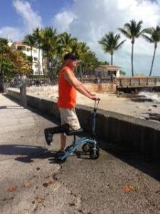using a Swivelmate Knee Walker from Orlando Florida January 2015