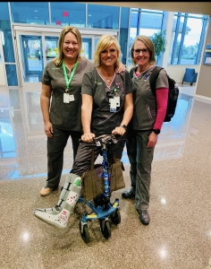 using a Swivelmate Knee Walker from  Wixom Michigan December 2019