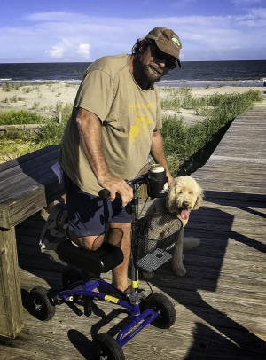 Thumbnail of  using a Orthomate All Terrain Knee Scooter from Dewees Island, SC