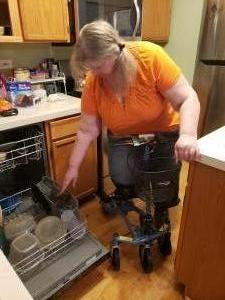 using a Swivelmate Knee Walker from  Oswego Illinois December 2019