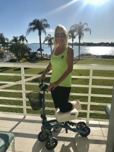 using a Swivelmate Knee Walker from  St Petersburg Florida February 2020