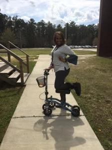 Thumbnail of  using a Swivelmate Knee Walker from Columbia, SC