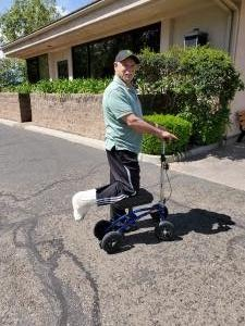 Thumbnail of  using a Orthomate All Terrain Knee Scooter from Santa Maria, CA