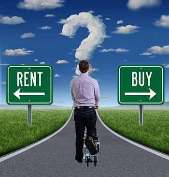 Renting vs Buying A Knee Scooter  - at the crossroads