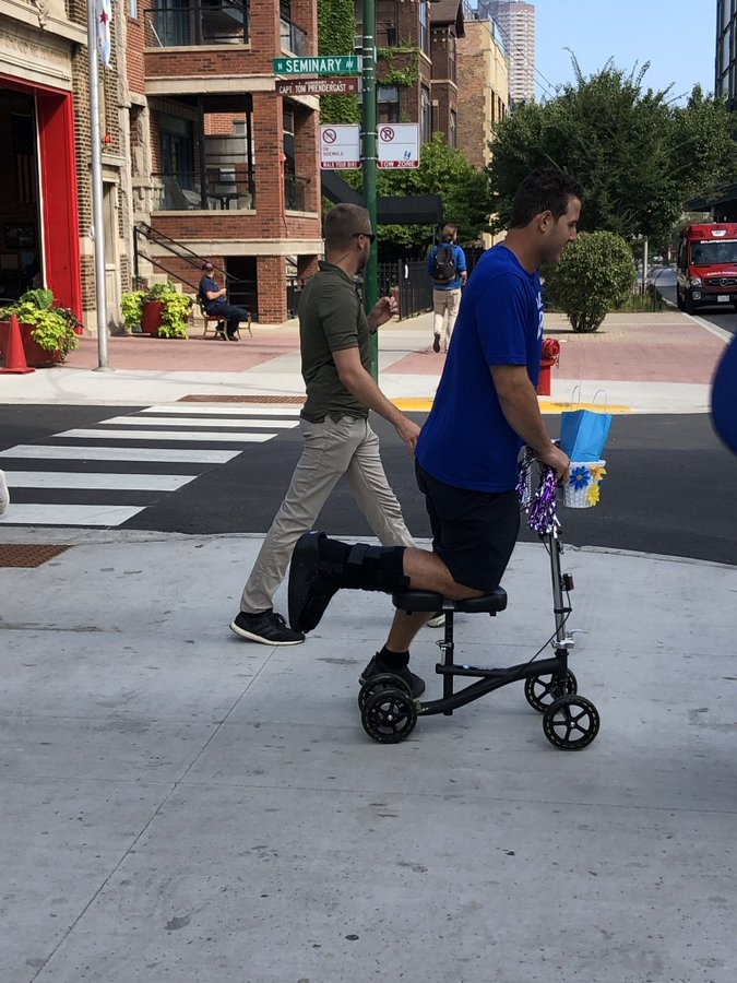 Anthony Rizzo On Roscoe Knee Scooter