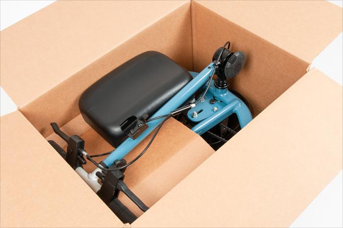 insert knee rest in box