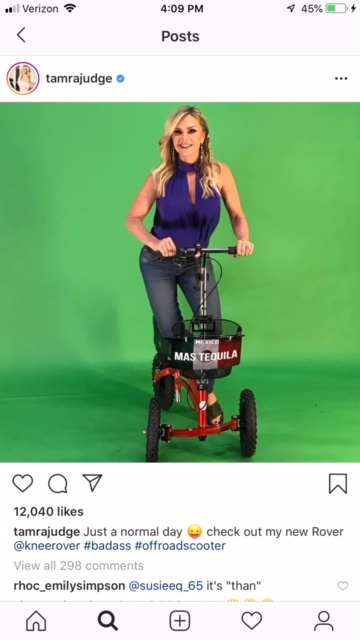 Tamra Judge on a Knee Rover