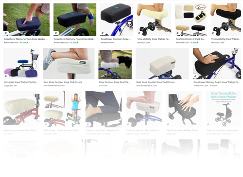 variety of knee pad covers