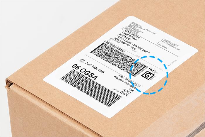 fedex sample label