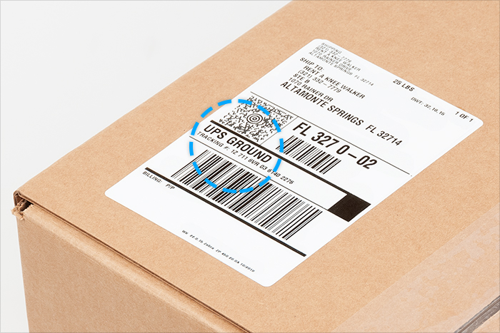 example ups shipping label