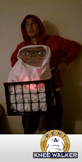 Dressed up as ET for halloween